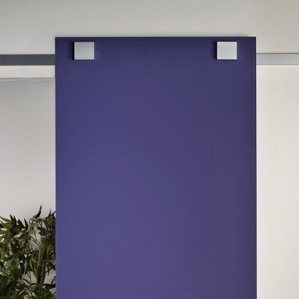 binario per porta scorrevole esterno vetro