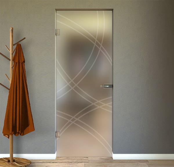 porte interne in vetro con disegno