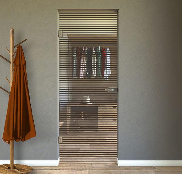 porte interne battenti in vetro con disegno sabbiato