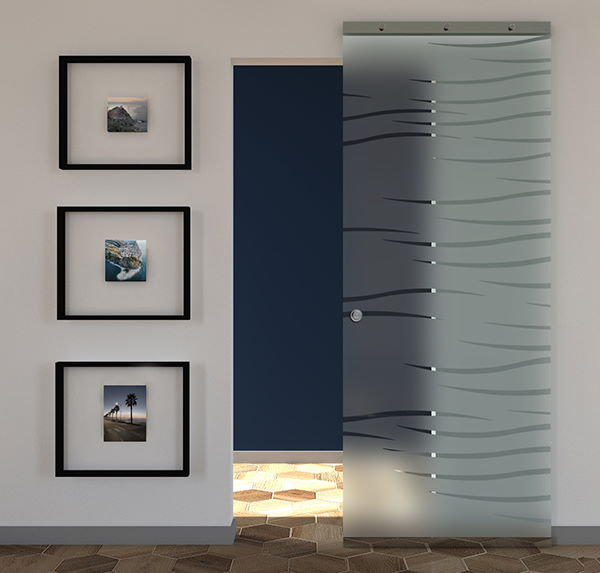 sliding doors in frosted glass