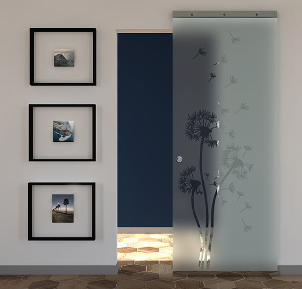 sliding door frosted glass transparent design