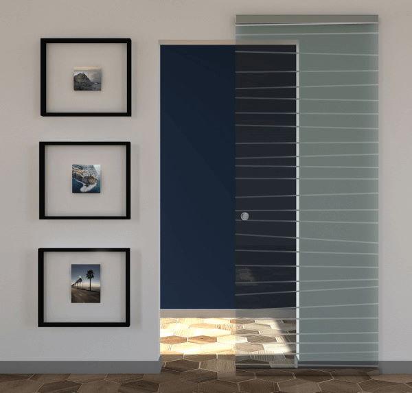 porte scorrevoli esterno muro in vetro