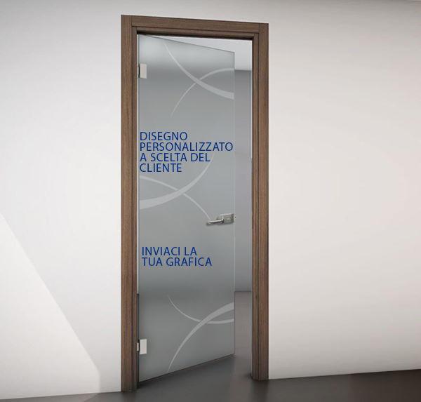 porte interne vetro disegno personalizzato