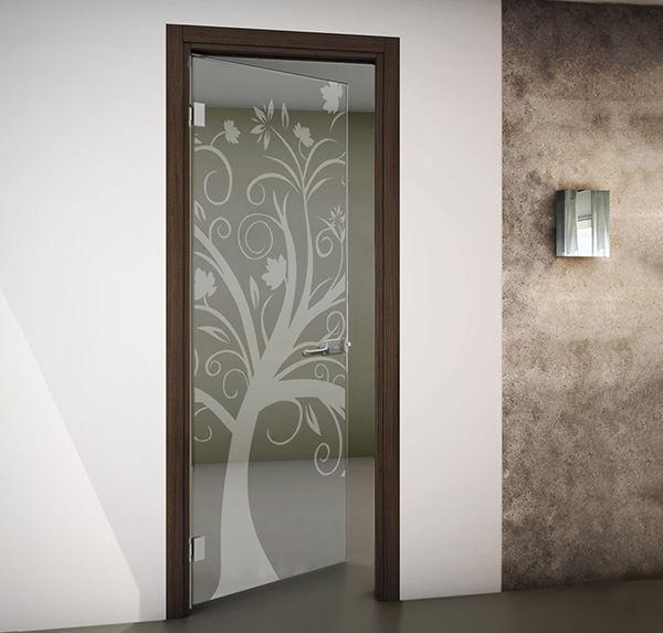 porte interne battenti in vetro