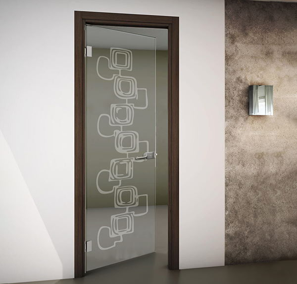 porte interne in vetro temperato