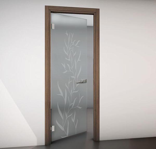 porte in vetro con disegno per interni