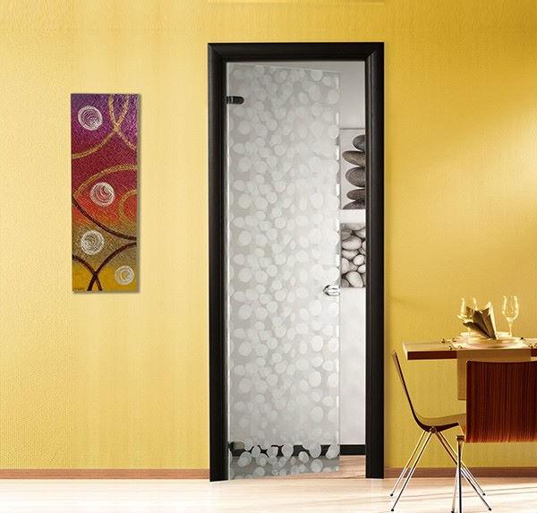 interior glass doors with design