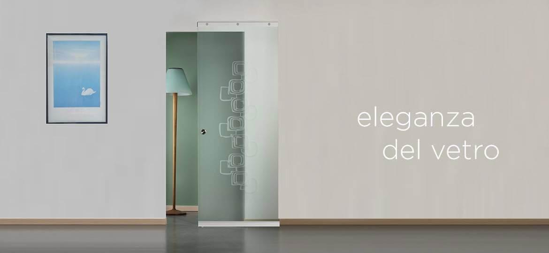 Porte scorrevoli in vetro l'Eleganza del vetro